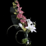 Lilies with Gladiolous