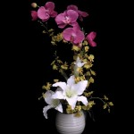 Lillies with Dancing Orchids