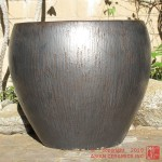 Large Tapered Planter (Gunmetal)