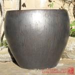 Large Tapered Planter (Gunmetal)