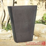 Tall Tapered Rectangular Planter (Gunmetal)