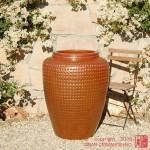 Tall Waffle Jar (Copper Red)