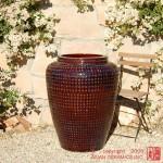 Tall Waffle Jar (Dark Brown)