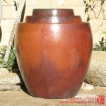 Tapered Planters – set of 3 (Rust Red)