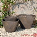 V-shaped Planters – set of 3 (Bronze)